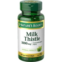 Natures Bounty Milk Thistle 1000 mg 50 Softgel Ori USA