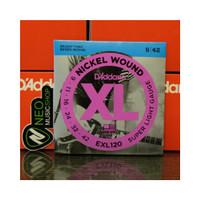 Senar Gitar Electric D Addario XL EXL120 Super Light Gauge Original Pr