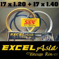 17 X 1.20 + 17 x 1.40 VELG TAKASAGO EXCEL ASIA ORI READY TERLENGKAP