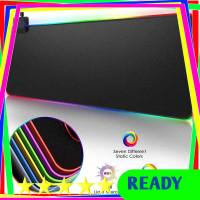 iAhead Gaming Mouse Pad XL + LED RGB 300 x 900 mm - MP11 [Hitam]