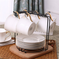 New Coffee Mug 6 Cup Tree Stand Cup Hanging Rack Holder Kitchen
