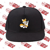 Topi Snapback Cotton Sonic the hedgehog Tails