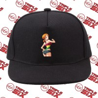 Topi Snapback Cotton Anime One Piece Nami Thicc tights