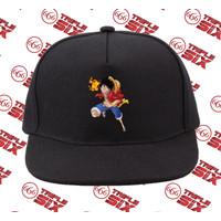 Topi Snapback Cotton Anime Luffy Straw Hat One piece
