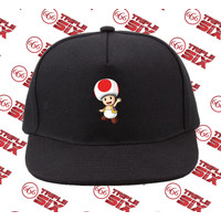 Topi Snapback Cotton Super Mario Toad