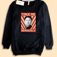 Sweater Sweatshirt Kim jong un take me seriously Korea