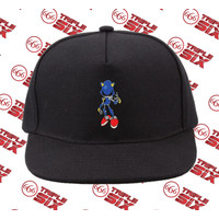 Topi Snapback Cotton Sonic the hedgehog Metal sonic