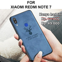 ^ Deer case Xiaomi Redmi Note 7 softcase back cover levis tpu - Deer