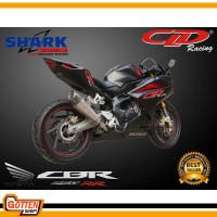 Knalpot Motor CLD Racing Type Shark Series New Cbr 250 Rr