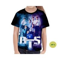 Baju Anak Perempuan BTS Series 3D Murah #AP-1