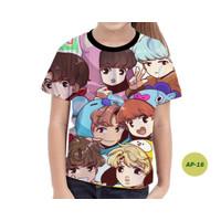 Baju Anak Perempuan BTS Series 3D Murah #AP-16