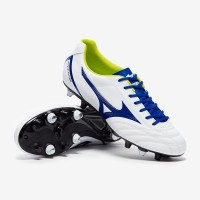 Sepatu Bola Mizuno Monarcida Neo Select Mix - White/Mazzarine Blue/Saf