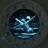 Unik Jam Dinding Seiko QXA595W Original Glow In the Dark Sweep QXA595