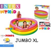 Kolam Renang Anak Sunset Glow 4 Ring Rainbow Pool Intex 56441 168x46cm