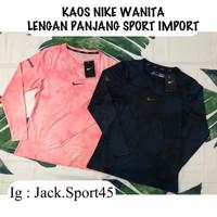 Unik Kaos Olahraga Nike Wanita Lengan Panjang Import XXL Diskon