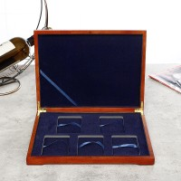 Wooden Coin Display Box Collection Case For 5PCS Certified