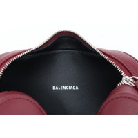 Branded Original BALENCIAGA EVERYDAY CAMERA BAG XS IN DARK RED/WHITE