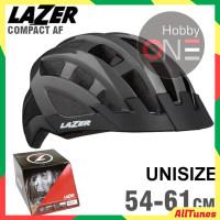 LAZER HELMET COMPACT TITANIUM UNISIZE 54-61Cm Asian Fit CE Helm Sepeda