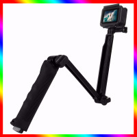 3 Way Grip Foldable Selfie-stick Extension Monopod with Tripod for