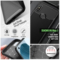 Xiaomi Mi Max 3 - Full Body Carbon Fiber Soft Case