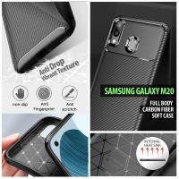 Samsung Galaxy M20 - Full Body Carbon Fiber Soft Case