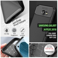 Samsung Galaxy J4 Plus 2018 - Full Body Carbon Fiber Soft Case