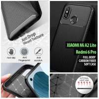 Xiaomi Mi A2 Lite - Redmi 6 Pro - Full Body Carbon Fiber Soft Case