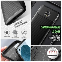 Samsung Galaxy J3 2018 - Full Body Carbon Fiber Soft Case