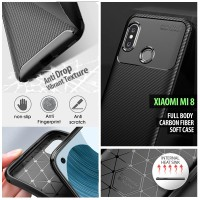 Xiaomi Mi 8 - Mi8 - Full Body Carbon Fiber Soft Case