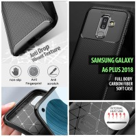 Samsung Galaxy A8 Plus 2018 - Full Body Carbon Fiber Soft Case