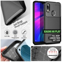 Xiaomi Mi Play - Full Body Carbon Fiber Soft Case