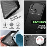 Huawei Nova 3i - Full Body Carbon Fiber Soft Case