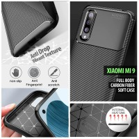 Xiaomi Mi 9 - Mi9 Explorer - Full Body Carbon Fiber Soft Case