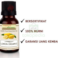 ESSENTIAL OIL 400K87 HAPPY GREEN ORGANIC LEMON 10 ML MINYAK JERUK