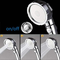 Adjustable Shower Head Ionic Handheld High-Pressure Water-Saving