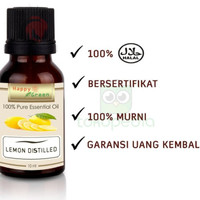 ESSENTIAL OIL 400K39 HAPPY GREEN LEMON DISTILLED 10 ML MINYAK LEMON