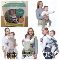 Crown Snuggle Gendongan Bayi 6 in 1 Super Hipseat Baby Carrier