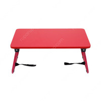 INFORMA-MEJA LIPAT–MEJA LAPTOP–MINI OXY FOLDING TABLE W/ STRAP RED