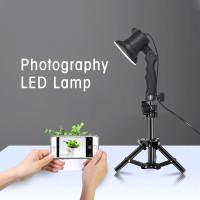Lampu Portable Photo Studio 12W 5500K with Light Stand 37cm