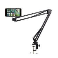 Holder meja Smartphone / tripod meja / Arm Table Lazypod Stand