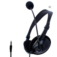Kc Headset Gaming Single / Dual Plug Dengan Kabel Mic Jack 3.5mm