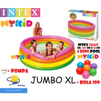 Baru Kolam Renang Anak Sunset Glow 4 Ring Rainbow Pool Intex 56441 168