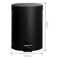 Tempat Sampah Bentuk Silinder Bahan Besi Kapasitas 5 Liter Warna