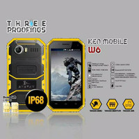 4G LTE IP68 KEN W6 PRO HP ANDROID OUTDOOR CLEARANCE STOCK MURAH JADUL