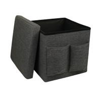 INFORMA - STORAGE BOX MULTIFUNGSI - OTTO FOLDABLE STORAGE W POCKET GRE