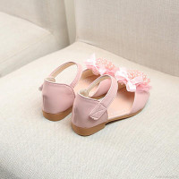 1-5Y Baby Shoes Girl Soft Pearl Floral Sandals Breathable Anti-slip