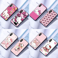 Casing iPhone 6 6S 7 8 Plus X XR Soft Case Silikon Hello Kitty