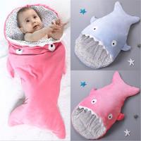 Sleeping Bag / Selimut Bentuk Ikan Hiu 7 Warna untuk Stroller Bayi