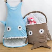 Bayi Sleeping Bag / Selimut Bentuk Ikan Hiu 7 Warna untuk Stroller