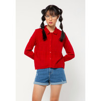 Colorbox Crop Long Sleeves Shirt I-Blwkey221A047 Red